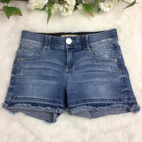 womens jean shorts with elastic waistband